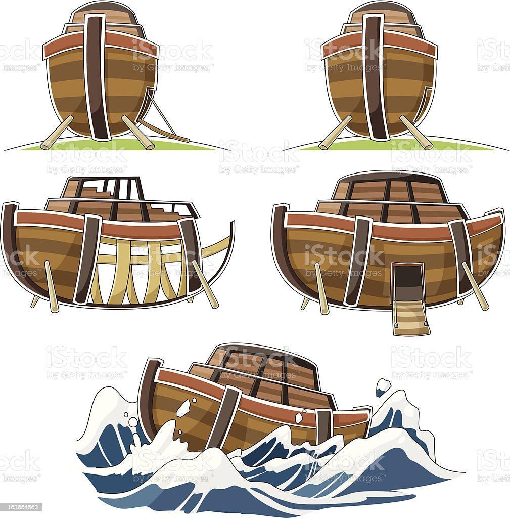 The ship of Noah's ark royalty-free stock vector art
