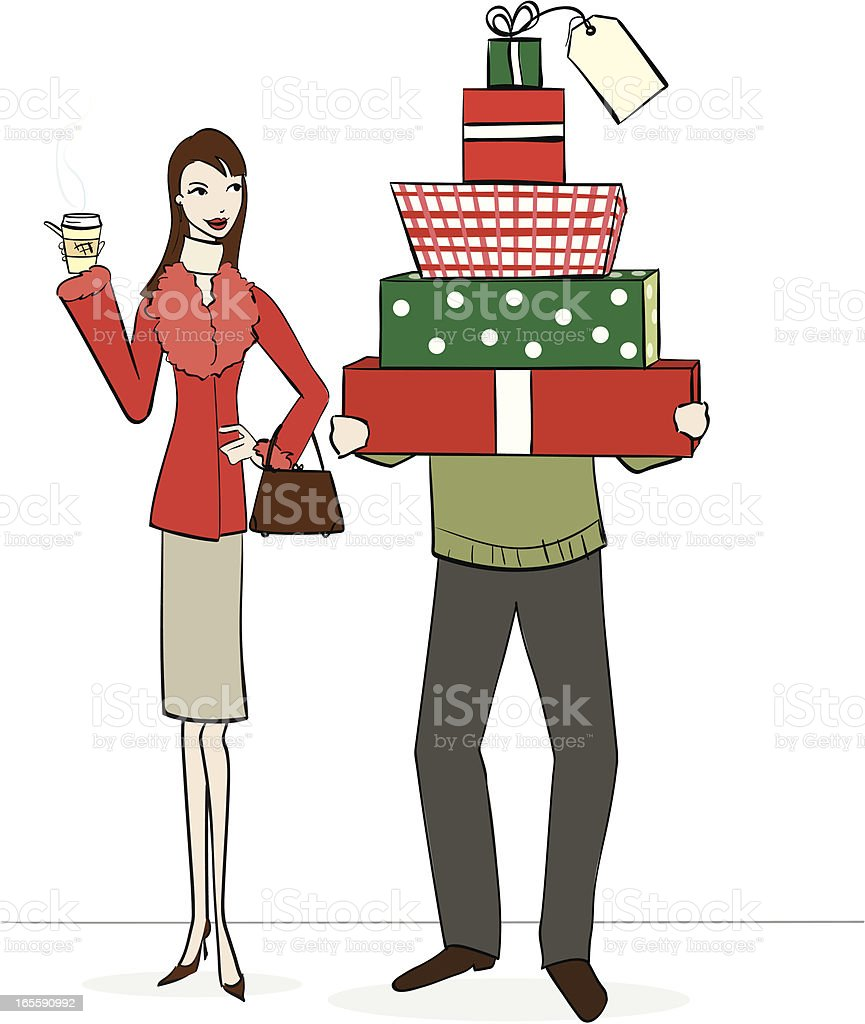 The Shopping Trip royalty-free stock vector art