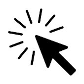 The sign of the cursor of a computer mouse