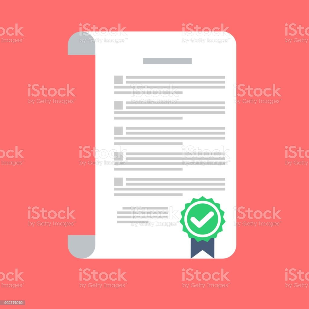 The Signed Contract Conclusion Of A Contract Stock Vector Art More