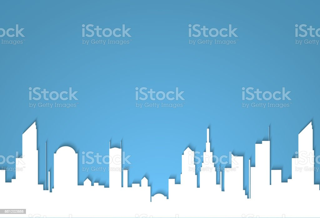 The silhouette of the city in a flat style. Modern urban landscape.vector illustration vector art illustration