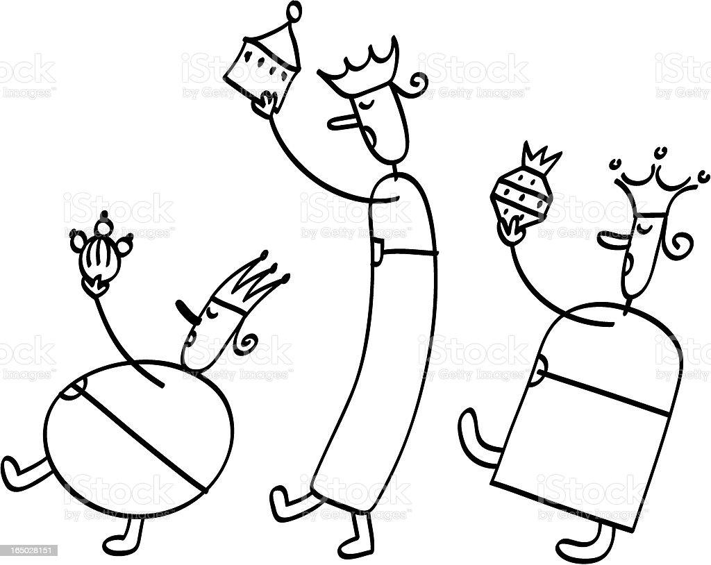 A cantar Magi - Royalty-free Amor arte vetorial
