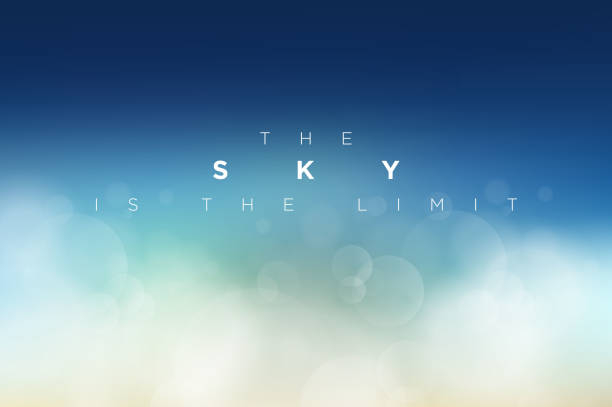 The Sky is the Limit vector art illustration