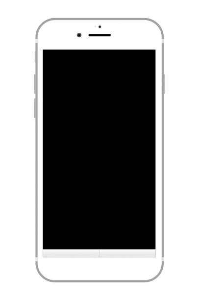 正面から見たスマート フォン - スマートフォン点のイラスト素材/クリップアート素材/マンガ素材/アイコン素材