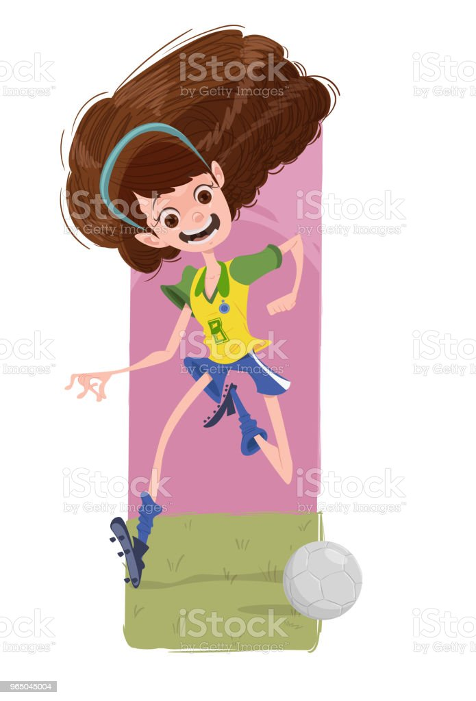 The Soccer's Girl royalty-free the soccers girl stock vector art & more images of activity