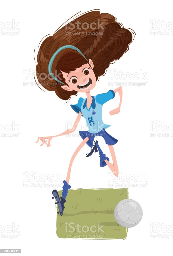 The Soccer's Girl royalty-free the soccers girl stock vector art & more images of adolescence