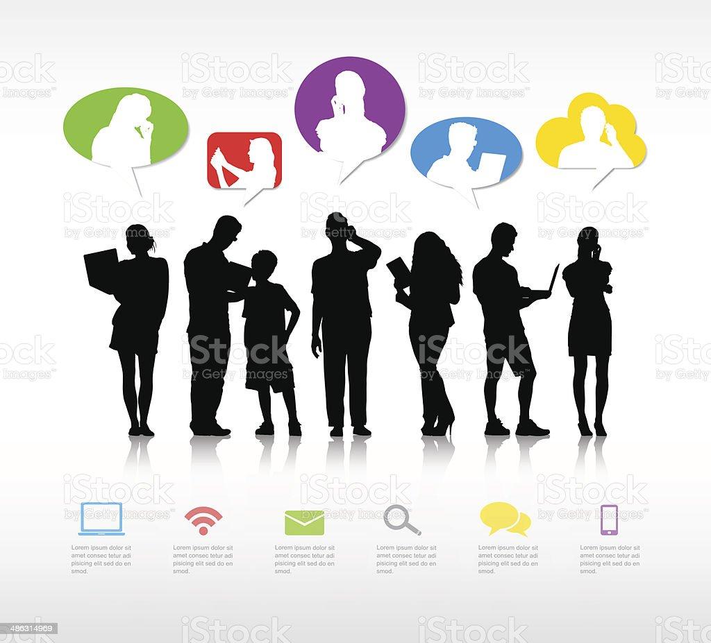 The Social Media vector art illustration