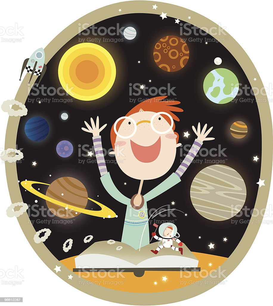 the solar system - Royaltyfri Astronomi vektorgrafik