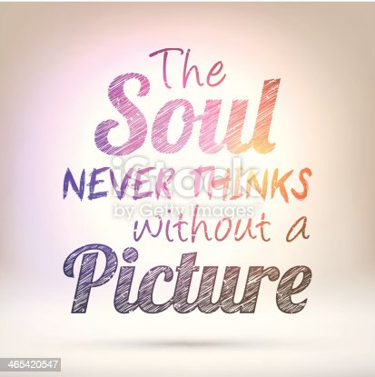 istock The soul never thinks without a picture - Shining Background 465420547