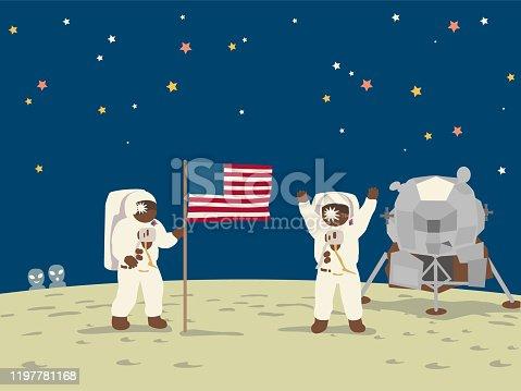 istock The spaceship Apollo 11, moon landing. 1197781168