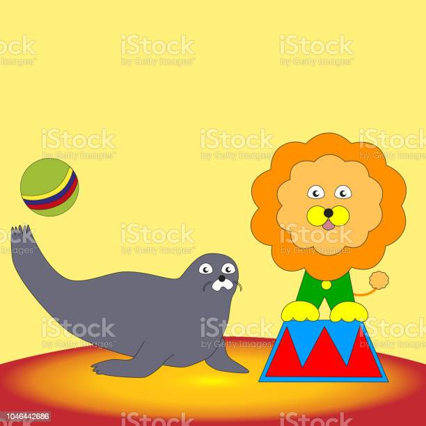 The speech of the lion and the seal in the circus vector id1046442686?b=1&k=6&m=1046442686&s=612x612&h=bl0gw5m0wkgd6guajm3wqzq1uc50we6bg0itgw0uqng=