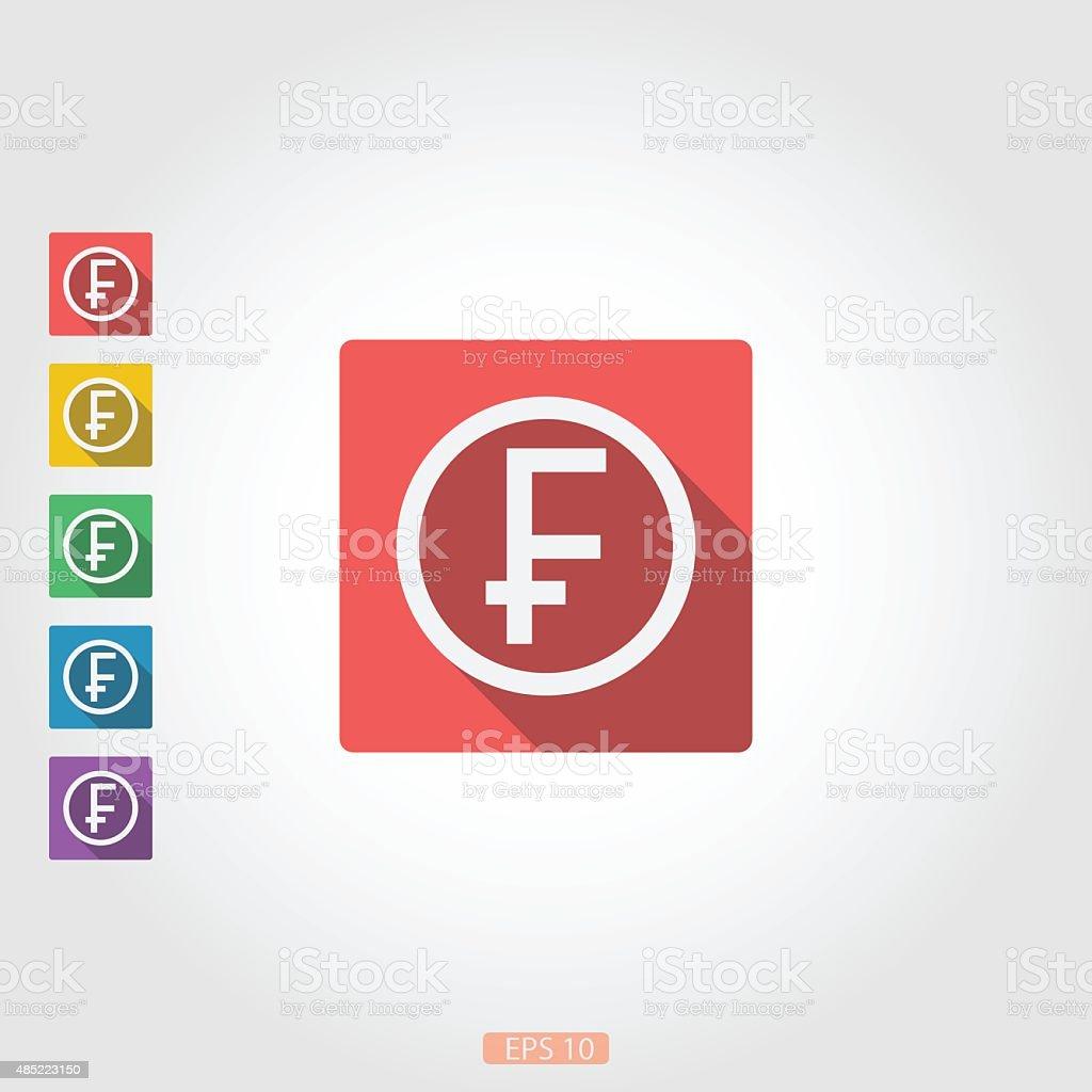 The square icon badge franc vector art illustration