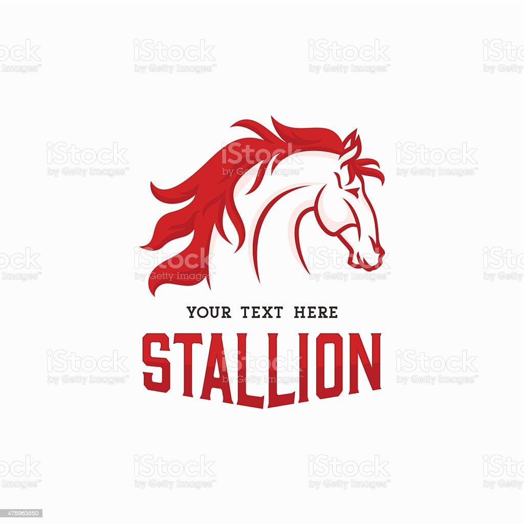 The Stallion Logo concept. Horse Head Icon vector art illustration
