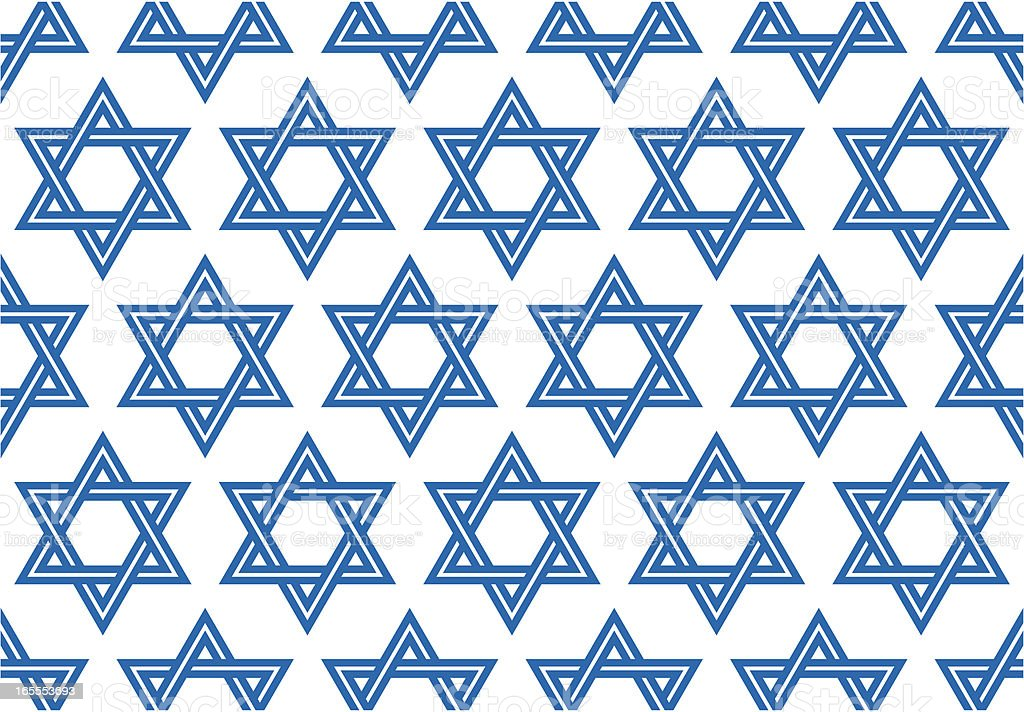 The Star of David, Seamless Vector Illustration royalty-free stock vector art