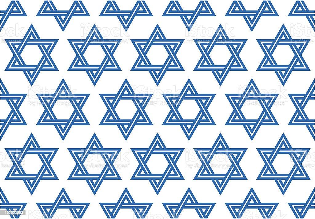 The Star of David, Seamless Vector Illustration vector art illustration
