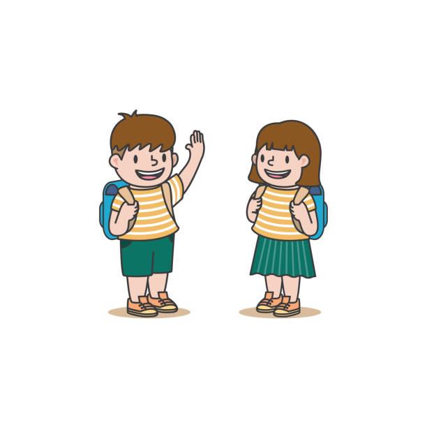 Best Cartoon Schoolboy Raising Hand Illustrations, Royalty ...
