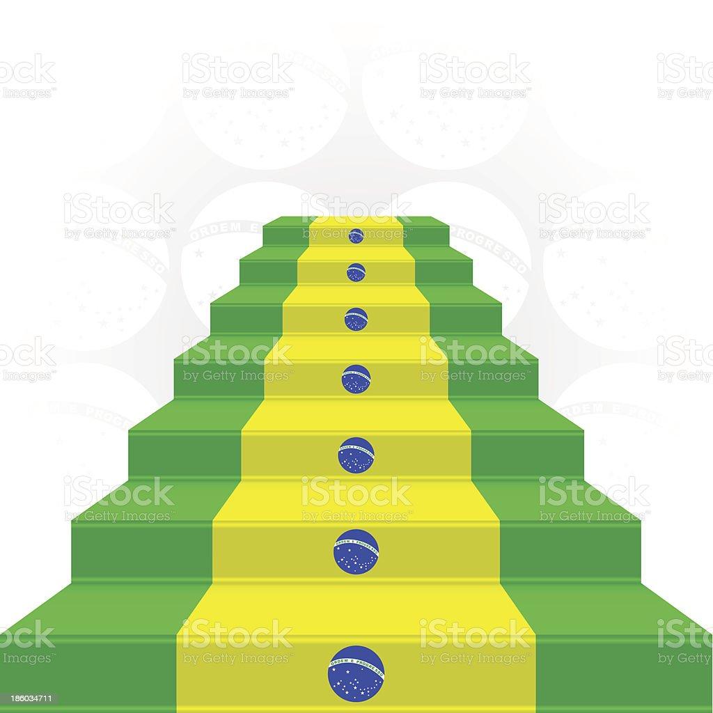The stylized ladder. Flag of Brazil royalty-free stock vector art