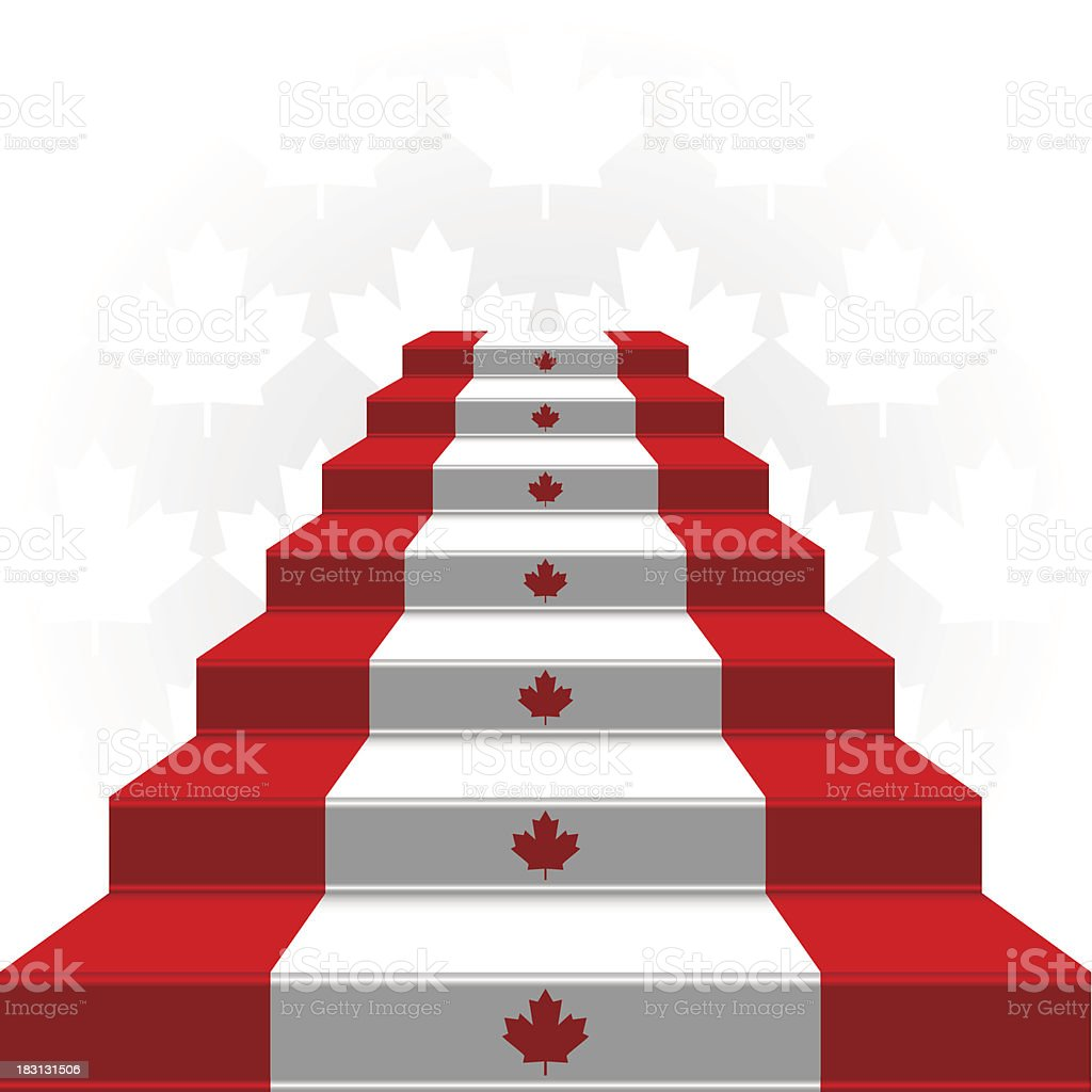 The stylized ladder. Flag of Canada royalty-free stock vector art