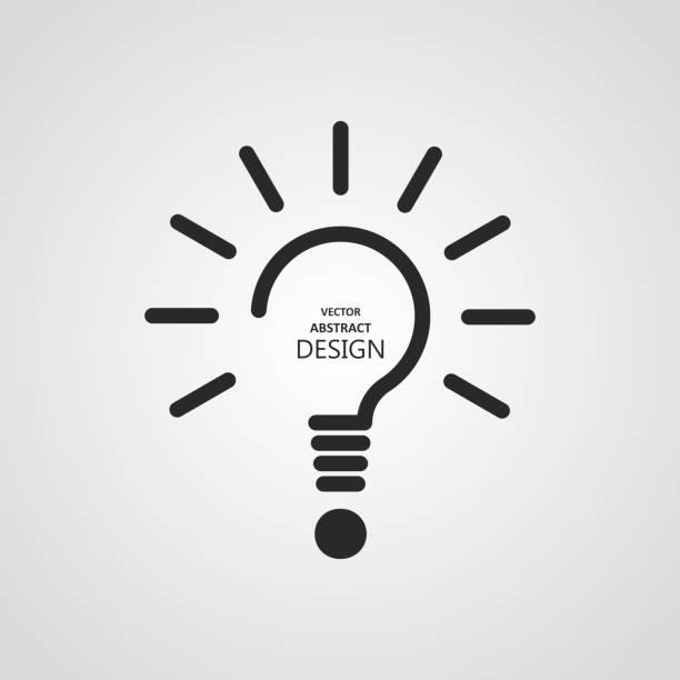 La lampe stylisée - Illustration vectorielle