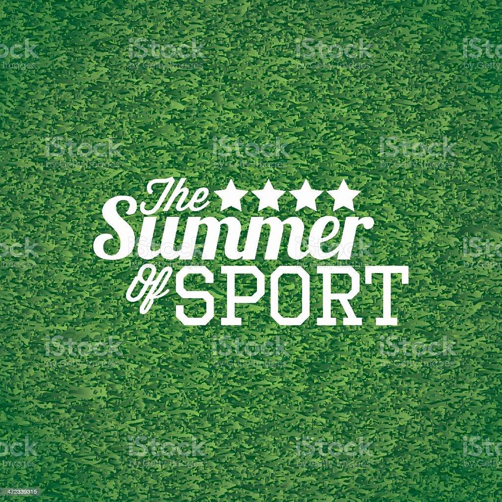 The summer of sport vector art illustration