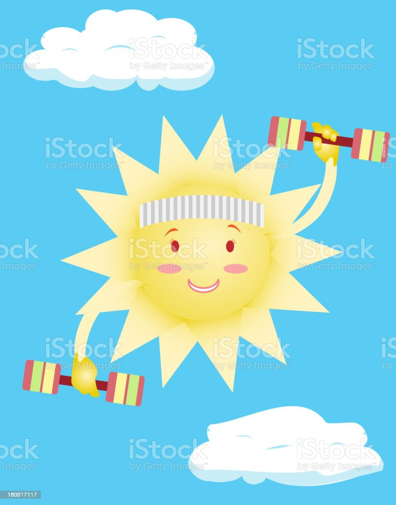 the sun does body exercises royalty-free stock vector art