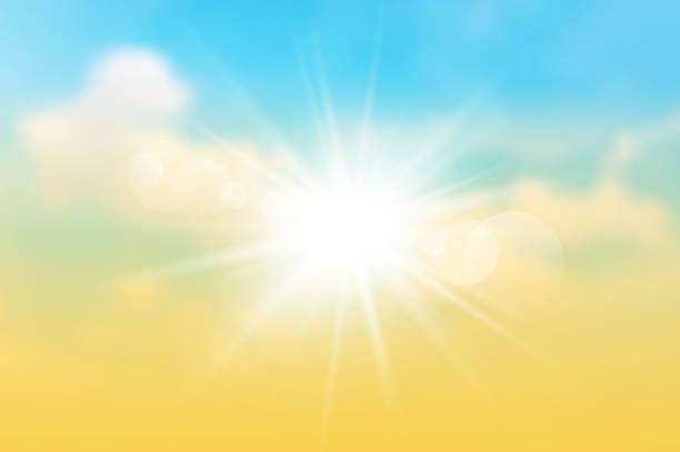 The sun rays  on the twilight sky The sun rays  on the twilight  sky. Vector illustration. nu stock illustrations