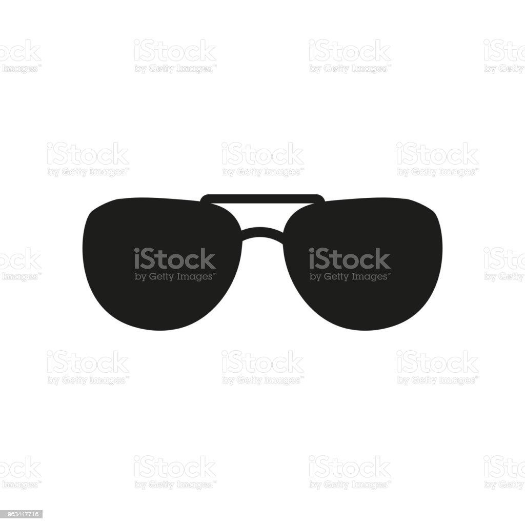 Ikona okularów przeciwsłonecznych. Symbol okularów. Ilustracja płaskiego wektora - Grafika wektorowa royalty-free (Akcesorium osobiste)