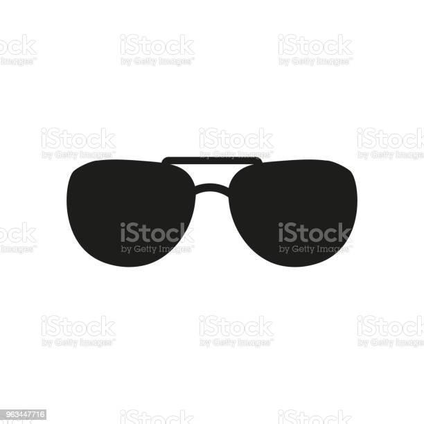 Ikona Okularów Przeciwsłonecznych Symbol Okularów Ilustracja Płaskiego Wektora - Stockowe grafiki wektorowe i więcej obrazów Akcesorium osobiste