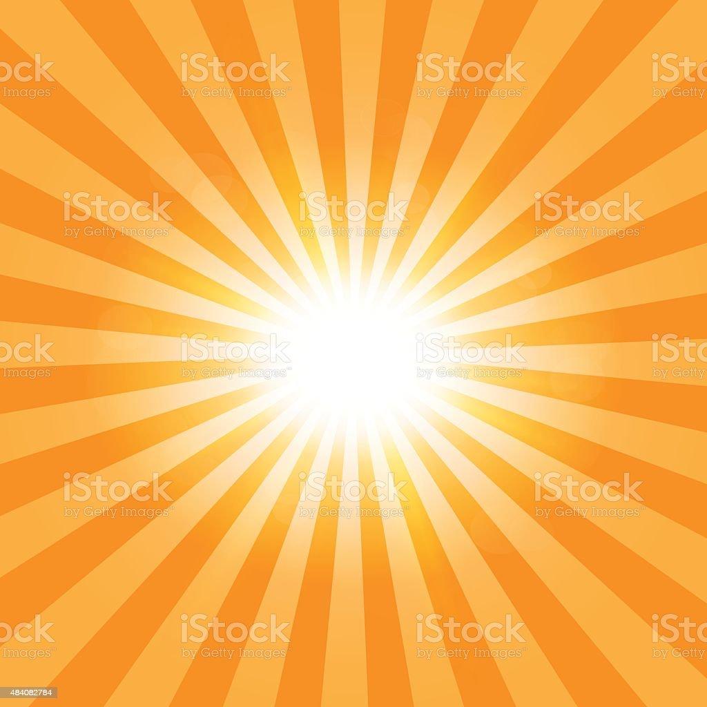 The sun's rays pattern background vector art illustration