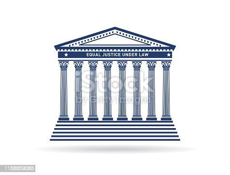 The Supreme Court façade architecture in one color