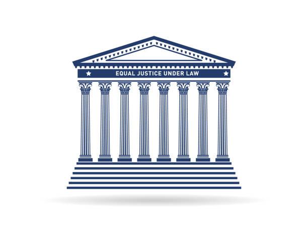 The Supreme Court architecture The Supreme Court façade architecture in one color supreme court stock illustrations