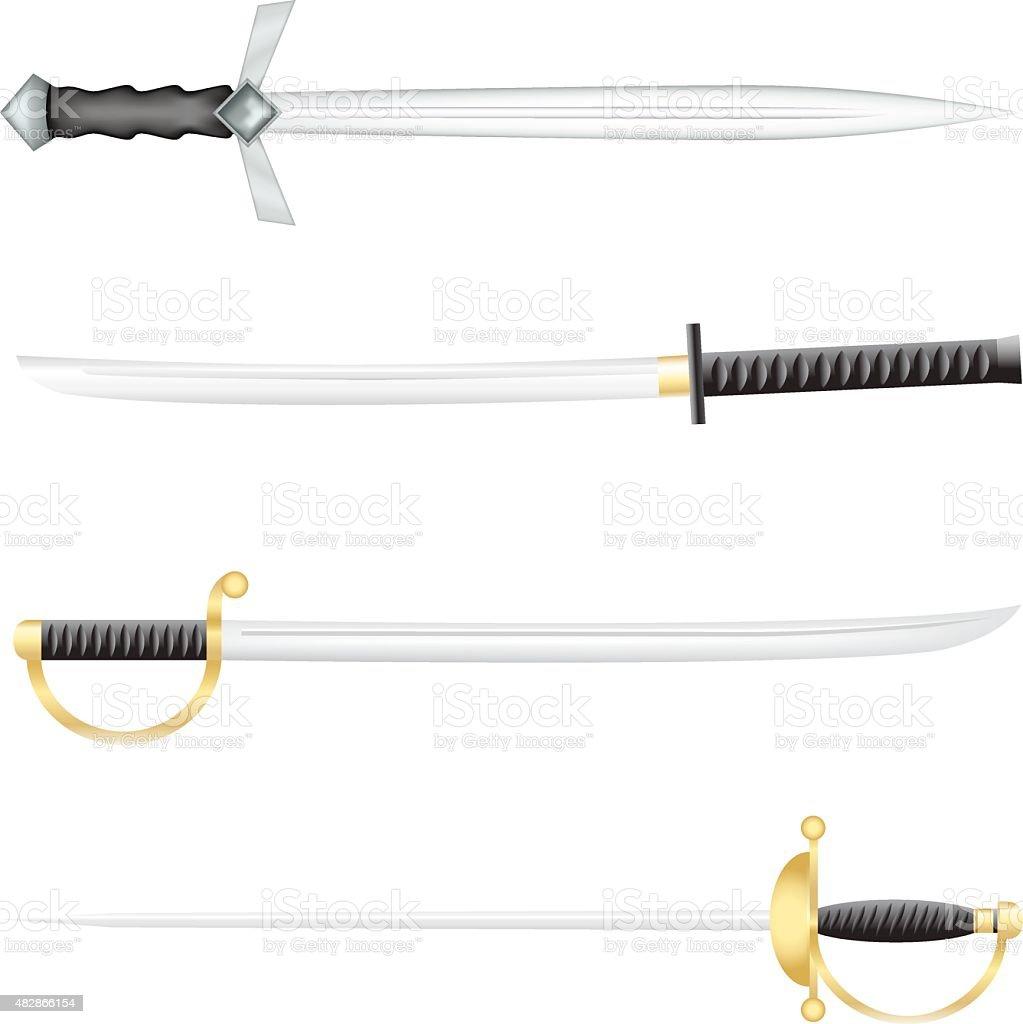 The swords vector art illustration