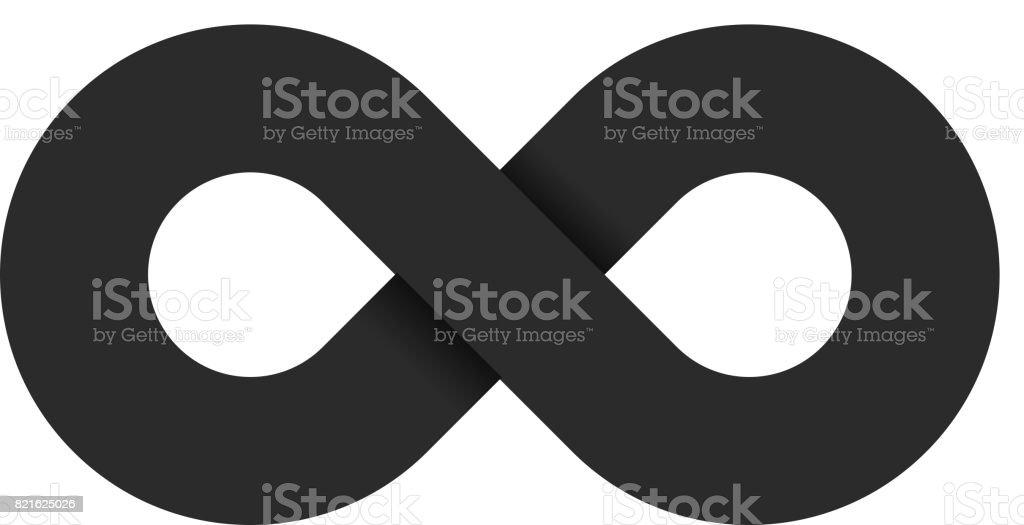 Ilustración De El Símbolo Del Infinito De Color Negro Es Aislado En