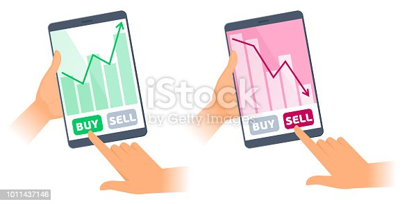 istock The tablet computers with stock quote charts on the screens. 1011437146