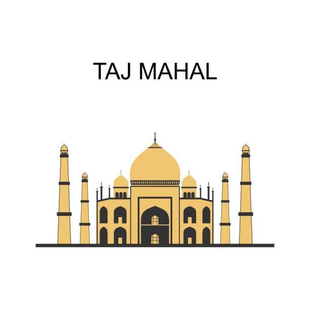 тадж-махал - мавзолей из слоновой кости белого мрамора. бизнес-путешествия и туризм концепции с современными зданиями в белом фоне. индийск� - unesco stock illustrations