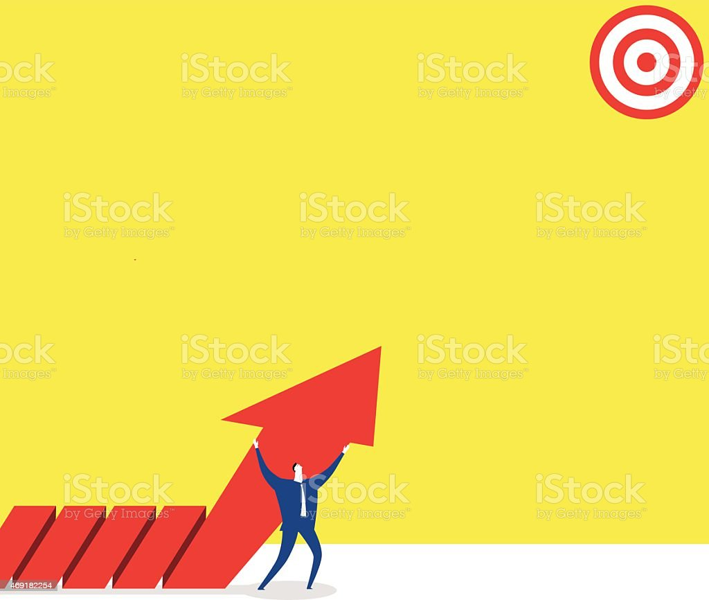 The target vector art illustration
