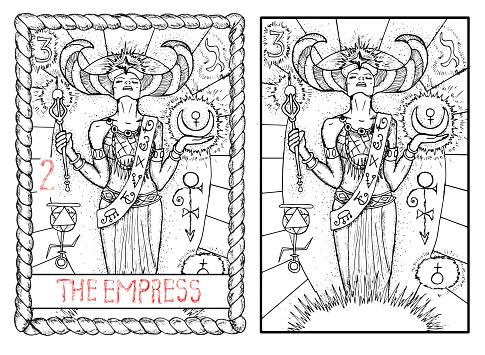 The tarot card. The empress