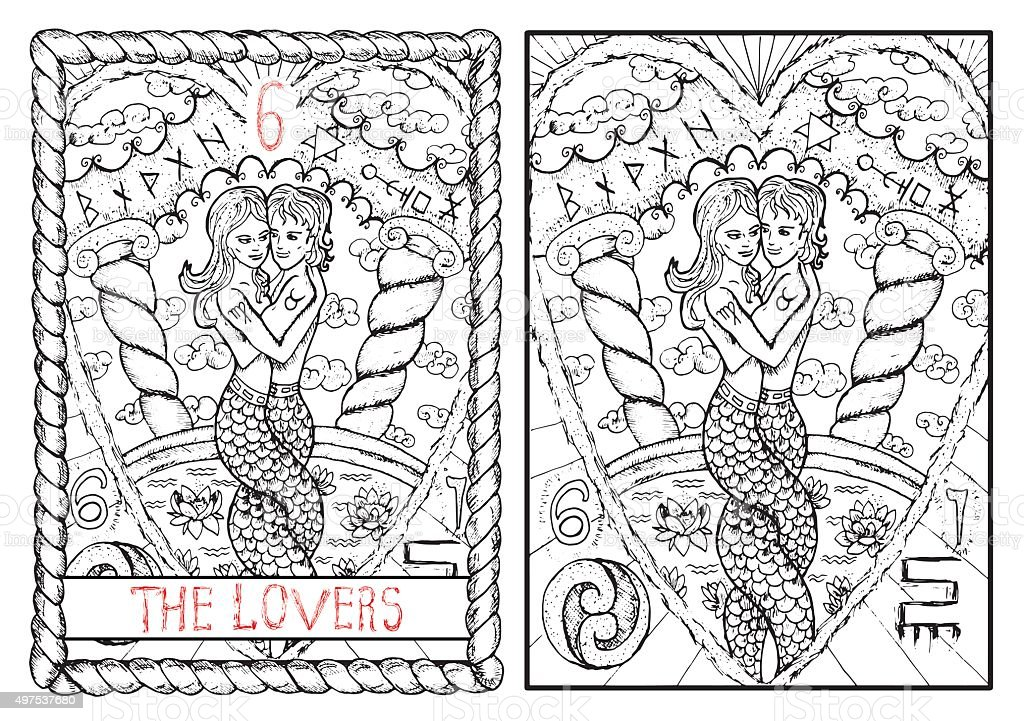 The Tarot Card The Lovers Stock Illustration - Download Image Now