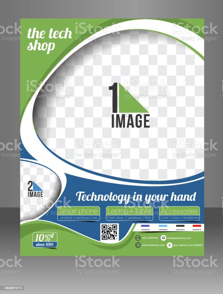 The Tech Shop Flyer Template.