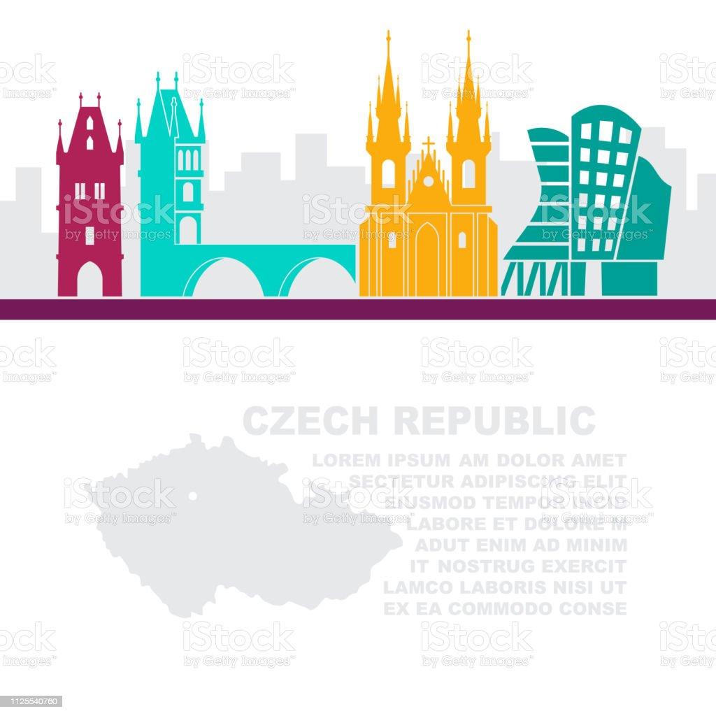 Prag Karte Europa.Die Vorlage Der Flugblätter Mit Einer Karte Der Tschechischen