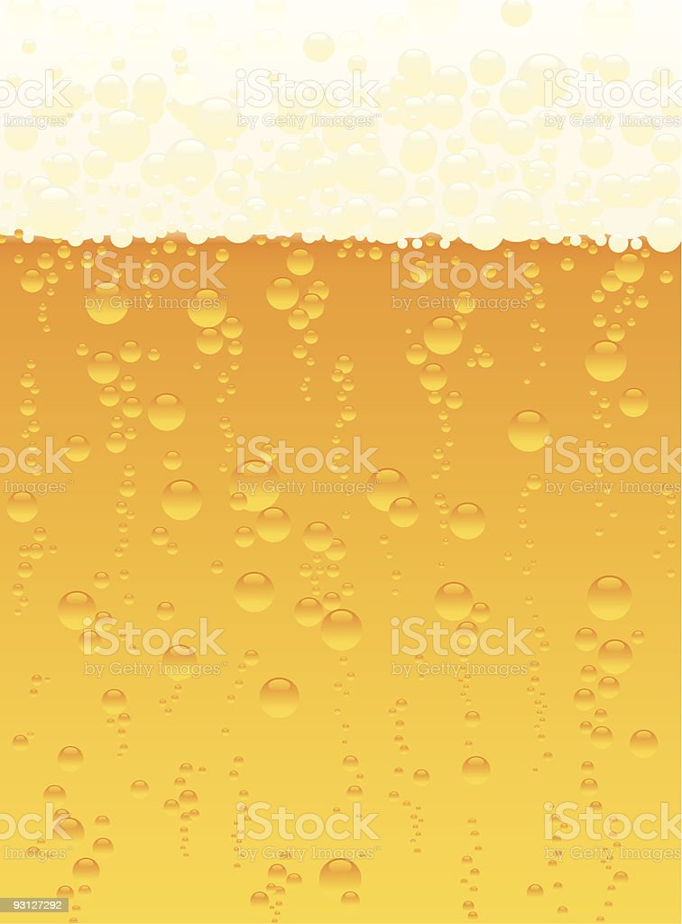 The texture of beer with bubbles rising to the top royalty-free stock vector art
