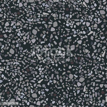 The texture of the asphalt road. Vector illustration. Seamless pattern background.