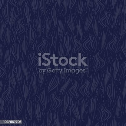 The texture of the blue artificial fur. Seamless pattern background. Vector illustration.
