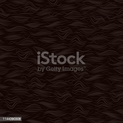 The texture of the brown fur. Seamless pattern background. Vector illustration. The skin of a bear.