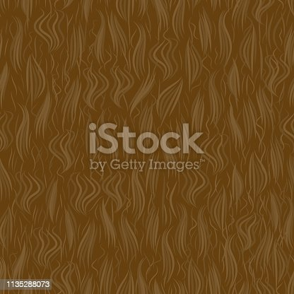 The texture of the brown wool. Seamless pattern background. Vector illustration. Animal skin.