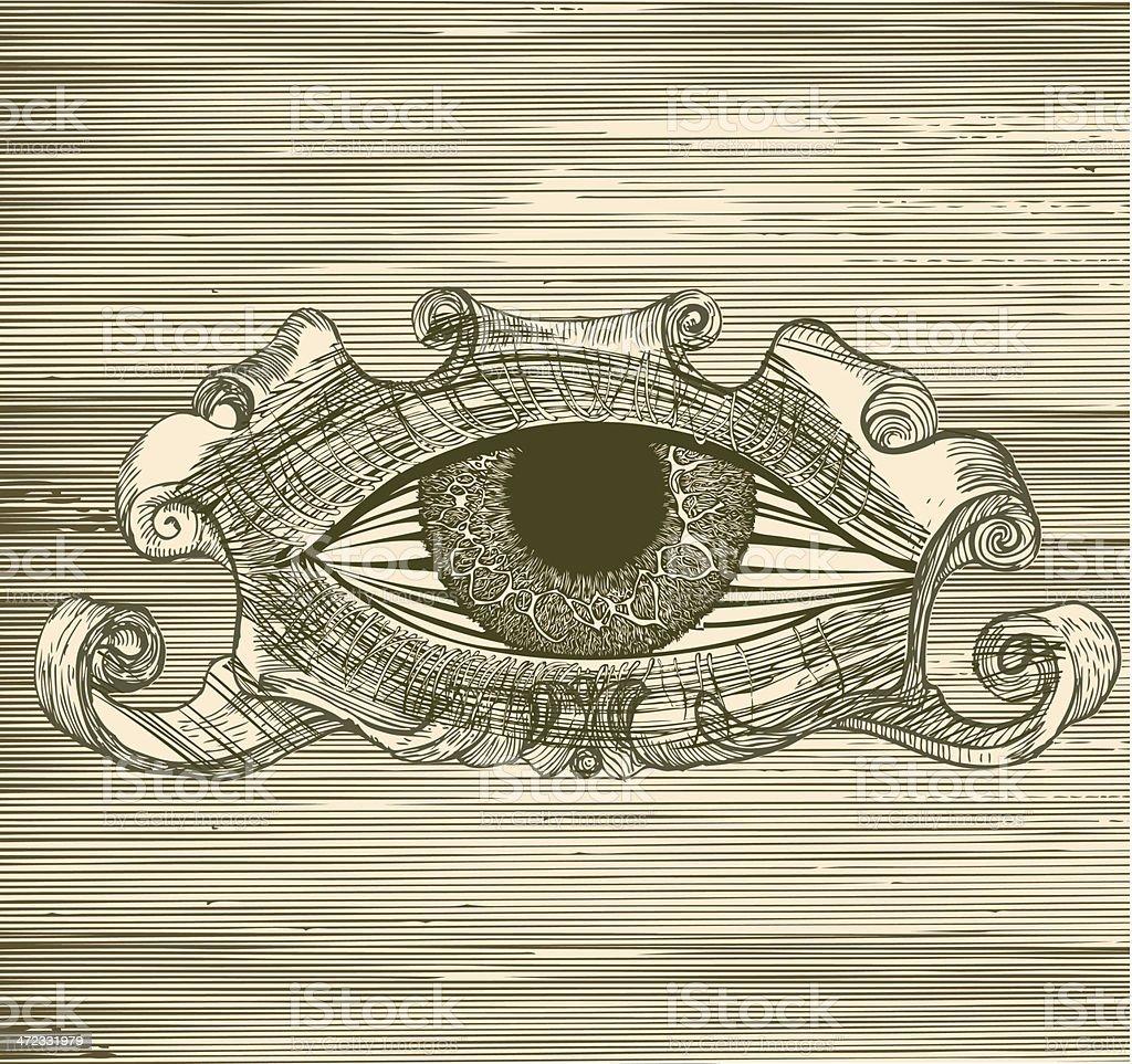 The third eye. royalty-free stock vector art