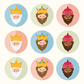 istock The three kings of orient icons ornament 1191397270