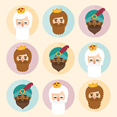 istock The three kings of orient icons ornament 1191641449