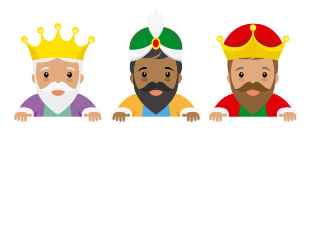 The three kings of orient The three kings of orient. Space for text name of person stock illustrations