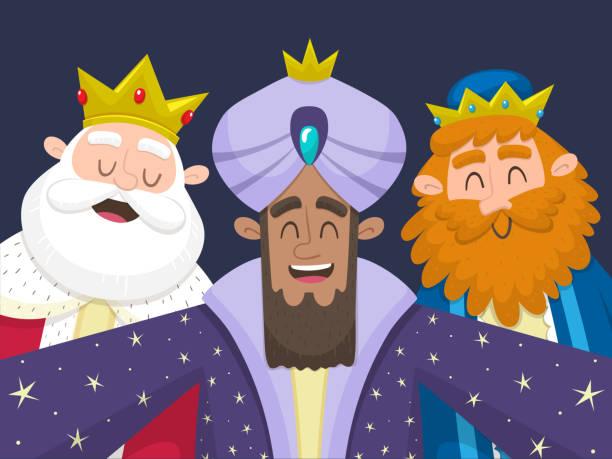 ilustrações de stock, clip art, desenhos animados e ícones de the three kings taking a selfie - reis magos